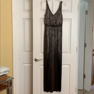 BCBG generation gunmetal metallic gown.